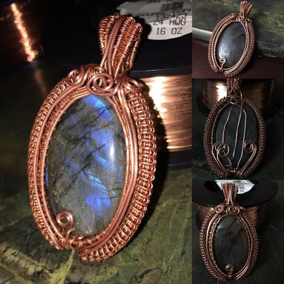 Jewelry Handmade Copper Wrapped Labradorite Pendant Poshmark